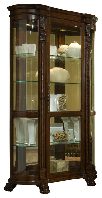 Pulaski Foxcroft Curved End Curio - Contemporary - Buffets And Sideboards - by Bedroom Furniture ...