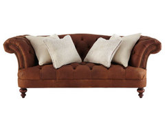 "Old Hickory Tannery ""Upton"" Leather Sofa traditional-sofas"