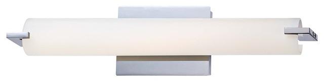 "George Kovacs ADA 20 1/2"" Wide Chrome LED Bath Light contemporary-bathroom-lighting-and-vanity-lighting"