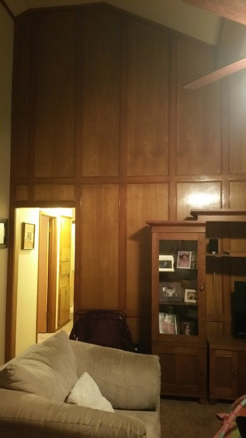 Should we paint our wood trim paneling and cabinets white Should i paint wood paneling