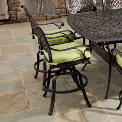Alfresco Home Long Cove Gathering Dining Chair with Optional Cushion - Set of 2 modern-dining-chairs