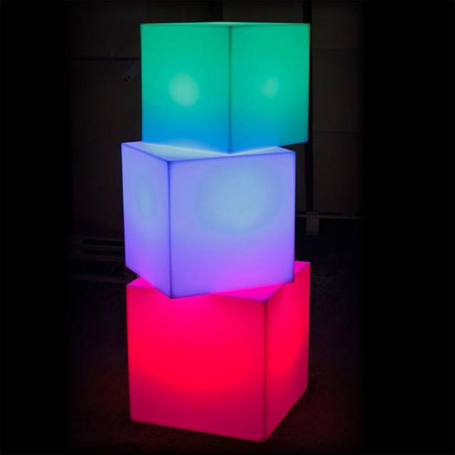 Cube Sharp Outdoor Portable Led Lamp Smart Amp Green