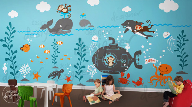 Children wall decal wall sticker kids decal by designed for Children s wall mural