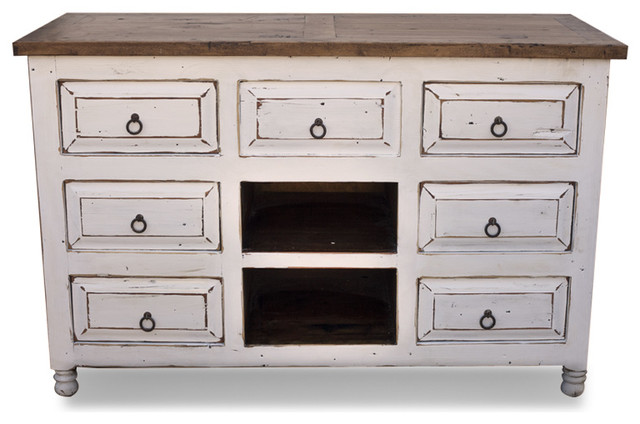 White Distressed Vanity, 60x20x32 traditional-bathroom-vanities-and ...