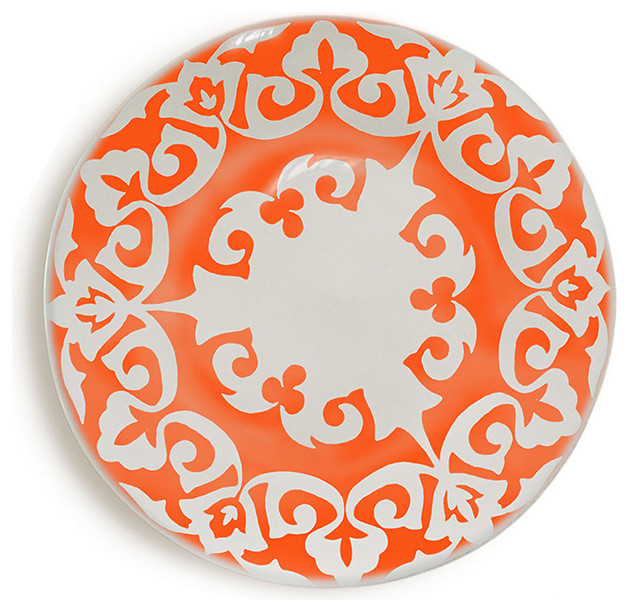 Tse & Tse - Samarkand Plate Orange eclectic dinnerware