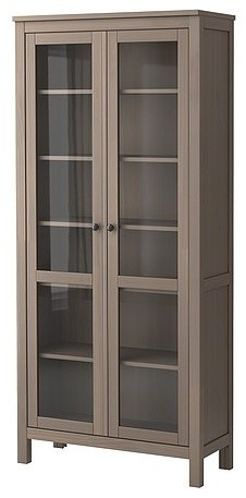 HEMNES Glass-door cabinet - Scandinavian - Storage Cabinets - by IKEA