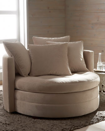 """""""Griffith"""" Cuddle Chair traditional-living-room-chairs"""
