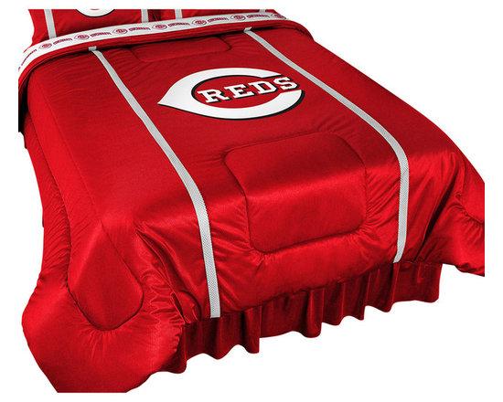 Store51 LLC - MLB Cincinnati Reds Bed Comforter Baseball Bedding, Queen - Features: