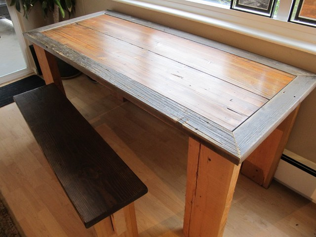reclaimed farm table from rydawell woodworks Dining  : dining tables from www.houzz.com size 640 x 480 jpeg 71kB