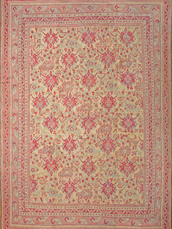 "Antique Turkish Oushak Carpets - #6353 antique Turkish Oushak carpet 8'4"" x 11'7"""