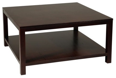Merge 36 In Square Coffee Table Espresso Contemporary Coffee Tables
