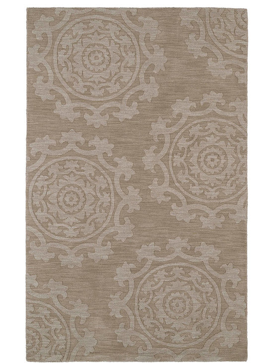 Kaleen - Imprints Classic Ipc01 Light Brown Rug - Imprints Classic, where textiles meet fashion. Modern textile designs and todays hottest colors combine to meet the new evolution of this beautiful collection. Straight off the runway and into your home each rug is handmade in India of 100% Virgin Wool.