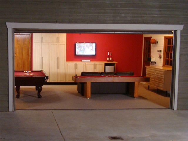 Sensational Craft Rooms Pictures in addition Man Cave Shed further Deluxe Garage Game Room Contemporary Garage And Shed Los Angeles in addition Garage Gym Inspiration Gallery together with Share. on convert shed into gym