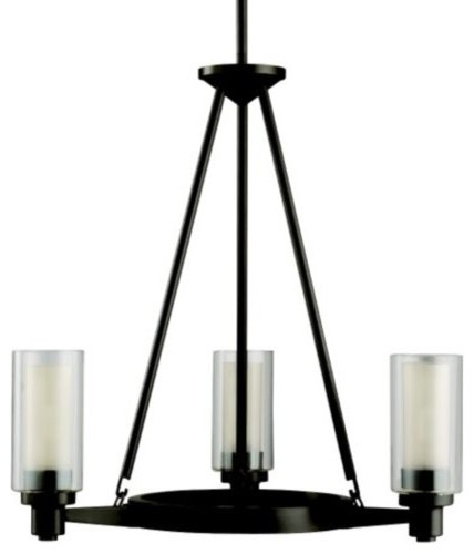 Circolo 3-Light Round Chandelier contemporary-chandeliers