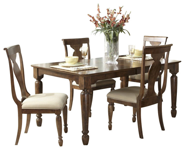 liberty furniture rustic tradition 5 piece 84x42 dining