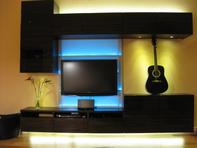 Blue led light Led lighting ideas for living room