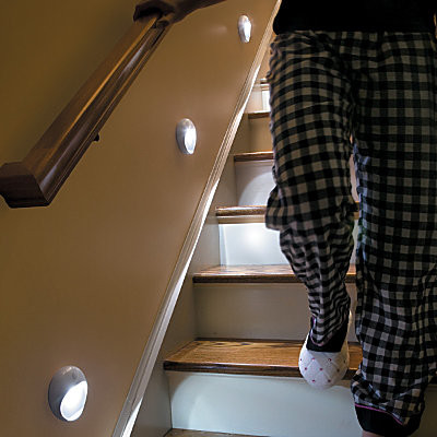 PathLights Wireless LED Stair Lights-Set of 3 - contemporary