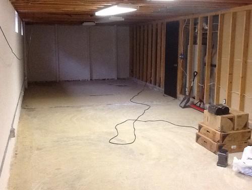 Long narrow basement layout for Long narrow basement design solution