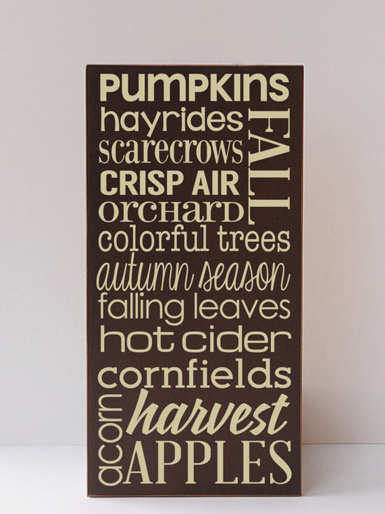Fall Subway Wooden Sign by Vinyl Crafts -