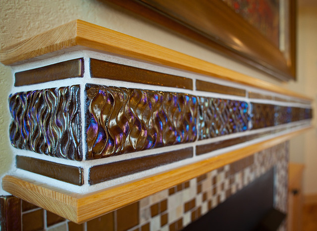 Custom fireplace mantel contemporary-family-room