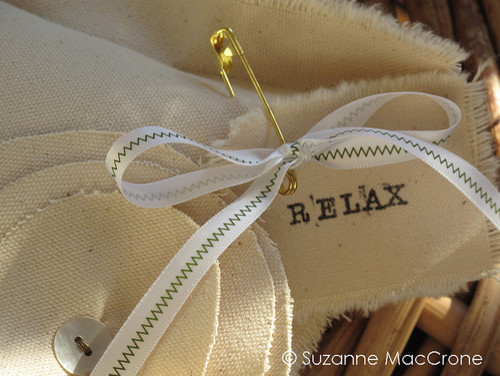 RELAX ~ Canvas Millinery Boudoir Pillow  pillows