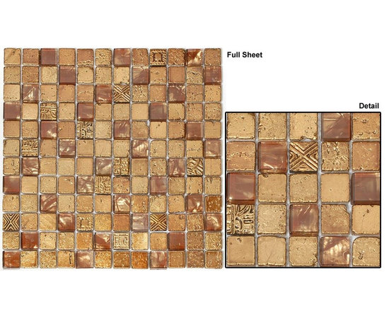 Mirage Opulence glass tile collection - Opulence glass tile mosaic 1x1