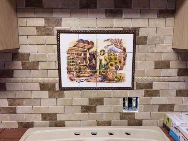 Ceramic tile mural decor kiln fired made in ohio u s a for Ceramic mural designs