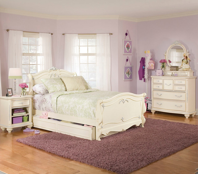 lea jessica mcclintock 4 piece sleigh kids 39 bedroom set in white