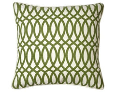 Geo Pillow, Apple Green modern-bed-pillows