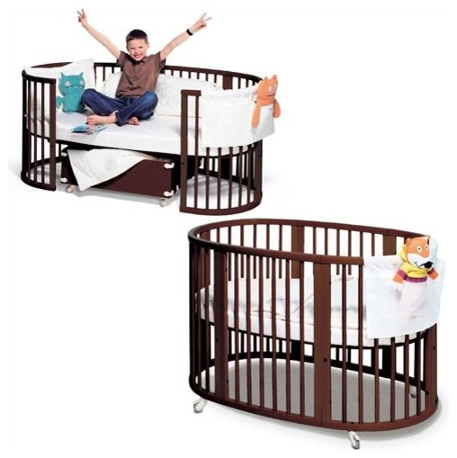 Sleepi System II: Crib and Junior Bed Set in Walnut modern cribs