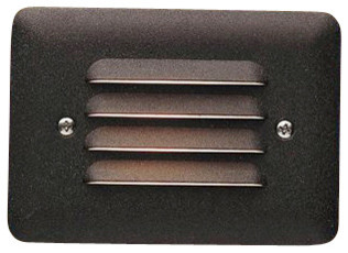 LANDSCAPE 12V Louvered Outdoor LED Mini Step Light X-TZA28751 contemporary-stair-and-step-lights
