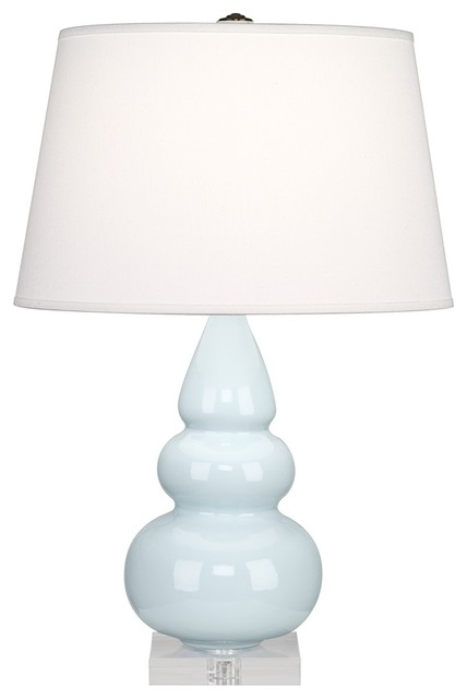 Contemporary Robert Abbey Light Blue Triple Gourd Ceramic Table Lamp contemporary table lamps