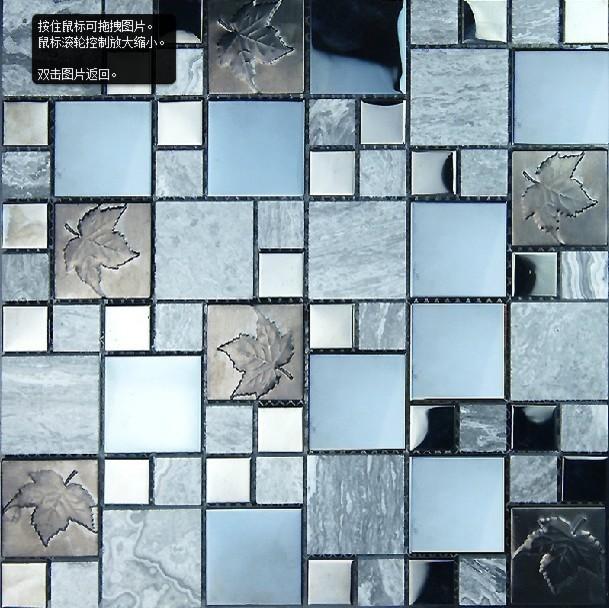 stainless steel mosaic tiles ssmt056 glass mosaic tile backsplash