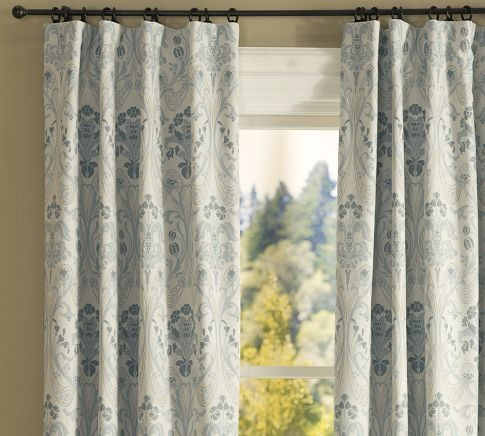 Simonetta Drape With Blackout Liner traditional-curtains