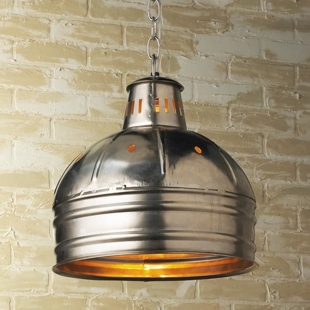 Metal Warehouse Dome Pendant