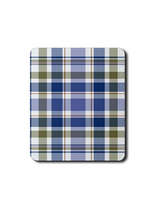 Blue Plaid HC1 Mouse Pad -