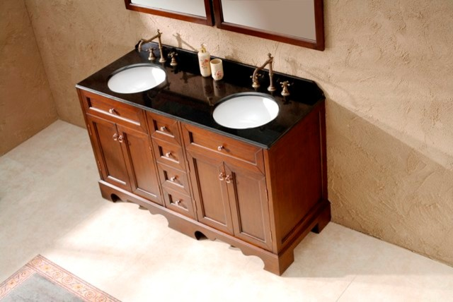 Freestanding Solid Timber Vanity Casoria Traditional Bathroom Vanities And Sink Consoles