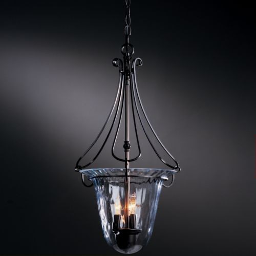 Draped Loop Foyer Pendant With Water Glass by Hubbardton Forge contemporary-pendant-lighting