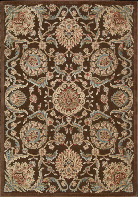 "Graphic Illusions GIL17 3'6"" x 5'6"" Chocolate Rug contemporary-rugs"