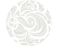 """Silver Swirl Linen Tablecloth, 108"""" Round contemporary-tablecloths"""