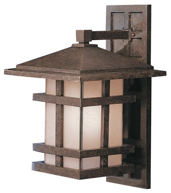 KICHLER Cross Creek Arts and Crafts/Mission Outdoor Wall Sconce X-ZGA2319 traditional-outdoor-wall-lights-and-sconces
