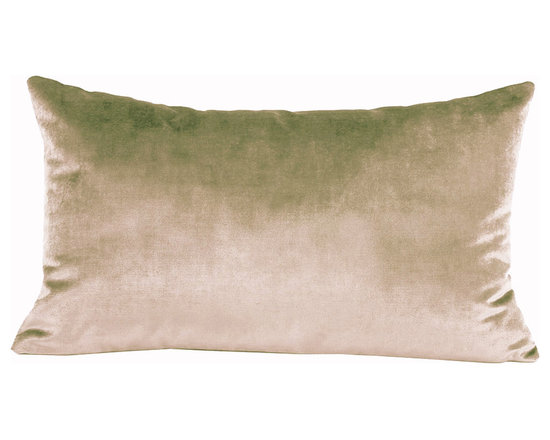 Yves Delorme - Iosis Berlingot Decorative Pillow, Flanelle, 13x22 - These sumptuous velvet pillows by Yves Delorme add gorgeous color and texture to any space. Decorative pillows feature a velvet front with a linen back and are filled with a feather down insert. Available in several colors and three different sizes. Made in France.Usually ships in 5-7 business days.