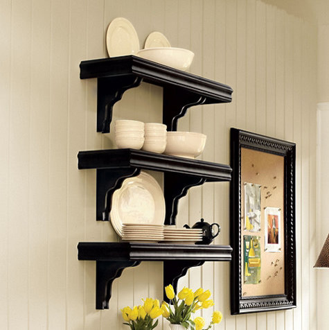 Cafe Shelving - 12 inch Deep - Traditional - Display And Wall Shelves - by Ballard Designs