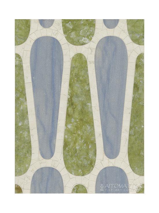 "Flip Flop 12"" x 16"" - Bianco Antico, Blue Macauba, Shamrock Green"