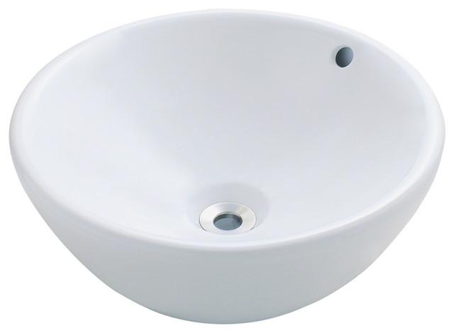 MR Direct V2200-White Porcelain Vessel Sink bathroom-sinks