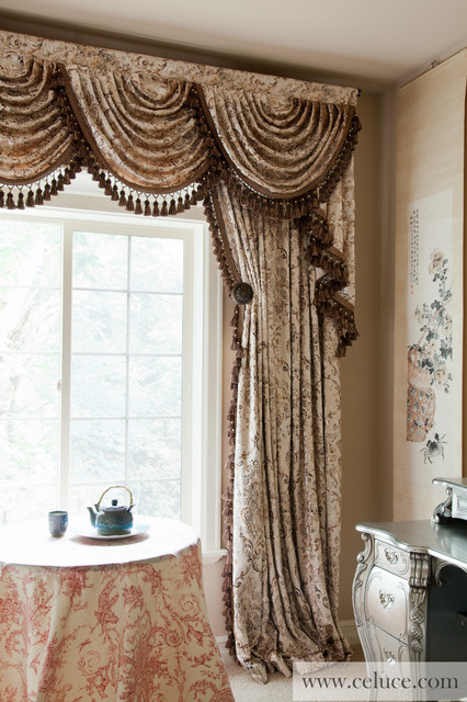 Valance curtains with swags and tails by celuce.com
