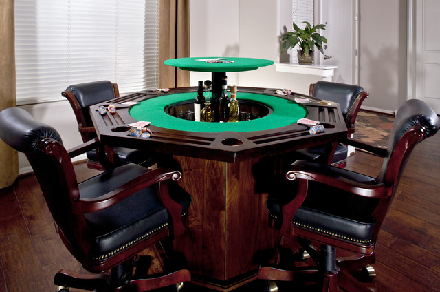 Poker Table Bar Traditional Family Room Phoenix By