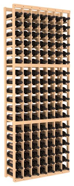 7 Column Standard Wine Cellar Kit in Pine, (Unstained) contemporary-wine-racks