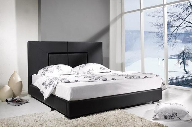 Raffi Modern Leather Bed Frame - Contemporary - Beds - los angeles - by Iris Furniture