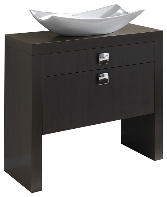 """32"""" Tokyo Bathroom Vanity. Thermo-laminated in Wenge Finish contemporary-bathroom-vanities-and-sink-consoles"""